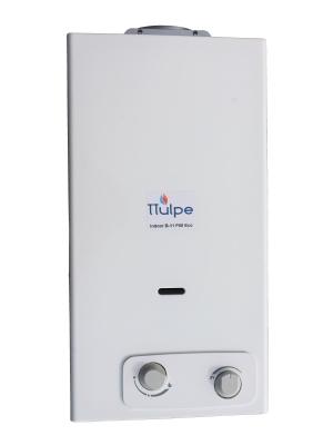 Chauffe-eau à gaz propane/butane de 14 litres par minute avec allumage par batterie, 50 mbar